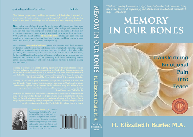 Memory in our Bones, front and back cover, larry dossey,  book endorsements